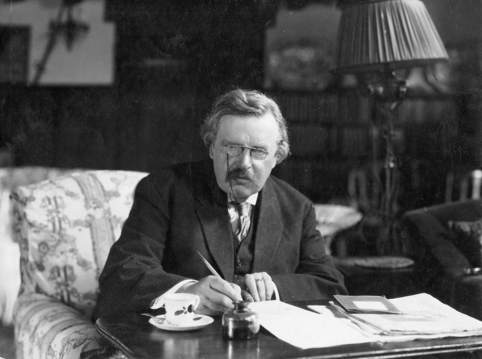 G.K. Chesterton at work