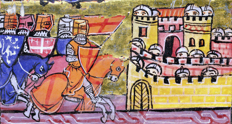Siege of Damascus (1148 A.D.) Illustration