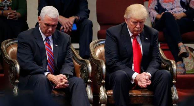 Trump and Pence Praying