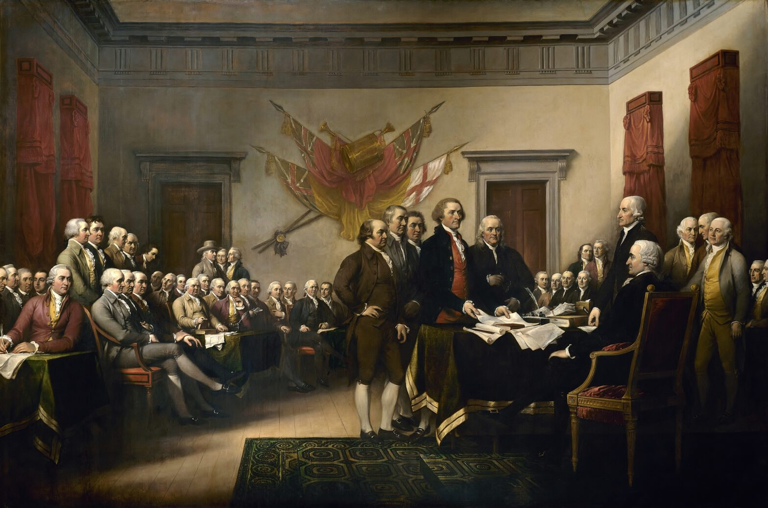Signing of the Declaration of Independence by John Trumbull (1819)