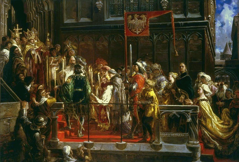 Baptism of Władysław III of Poland at Wawel in 1425
