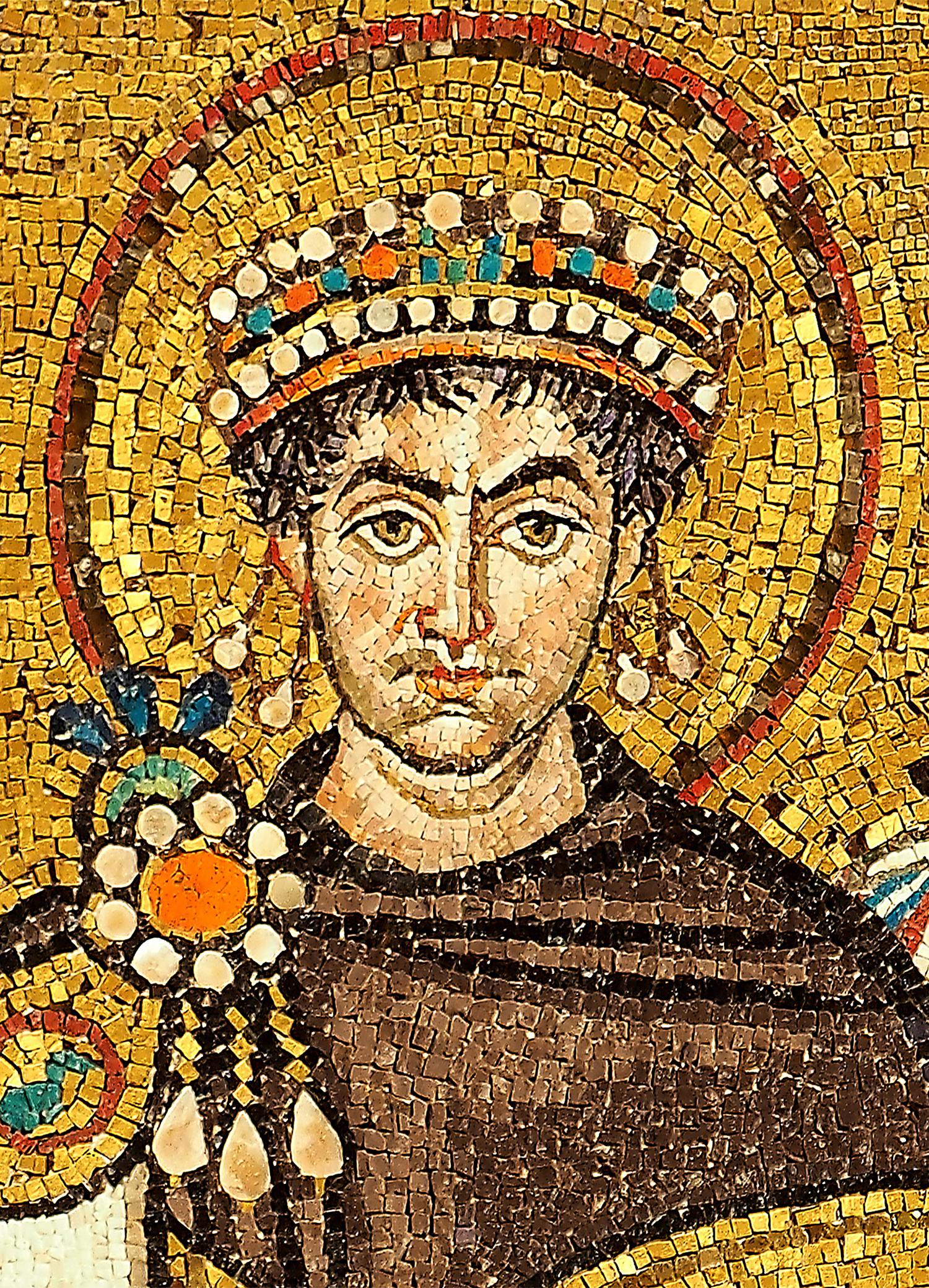 Justianianus Mosaic at Ravenna