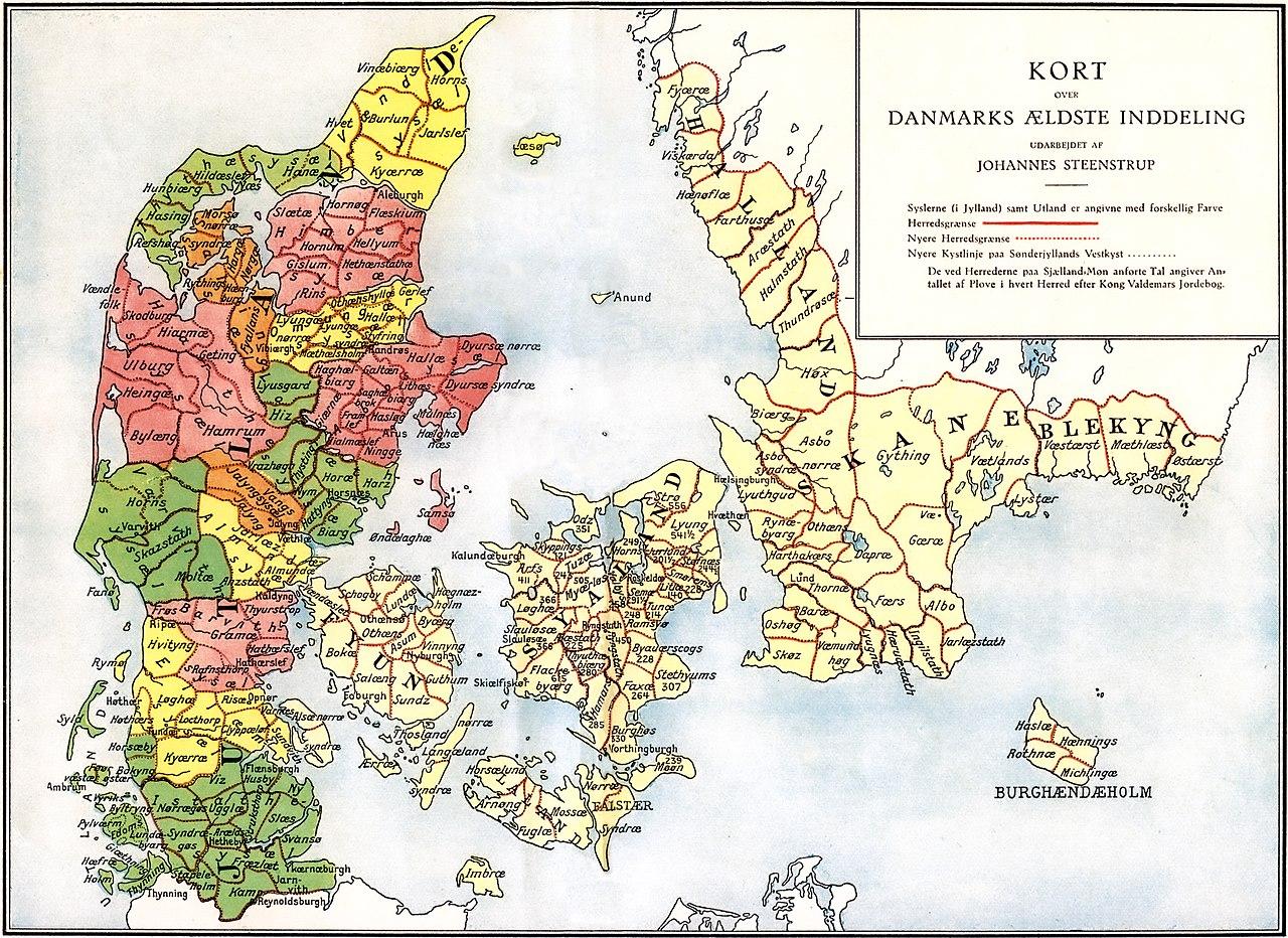 Medieval Denmark Map