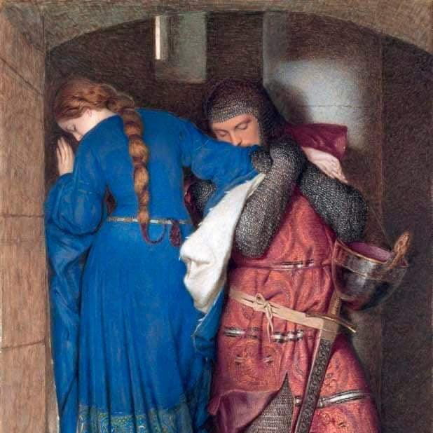 The Meeting on the Turret Stairs by Frederick Burton ... The Meeting on the Turret Stairs by Frederick Burton